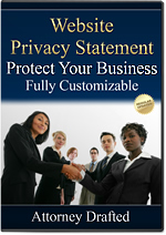 Privacy Statement Template - Protect Your Online Presence with our Attorney Drafted Business Documents