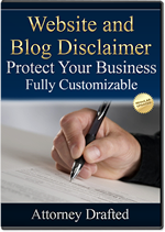 Attorney Drafted Website Advertising Disclaimer and Sponsorship Disclaimer