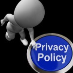 Privacy Policy Button Shows The Company Data Protection Terms
